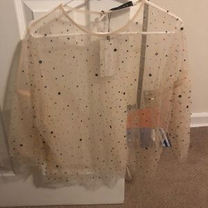 Brand new Zara see through shirt
